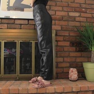 Pants - Verducci Vintage Black Leather Pants